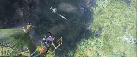 Une capture d'écran de la bande-annonce du jeu vidéo 'Avatar: Frontiers of Pandora' à venir en 2022.