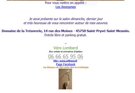 Les Boiseaux de Véro au Domaine de la Trésorerie  12/13 Juin 2021