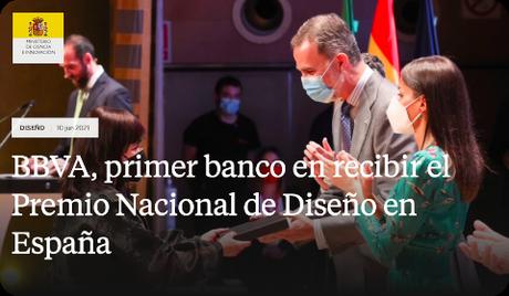 BBVA, primer banco en recibir el Premio Nacional de Diseño en España