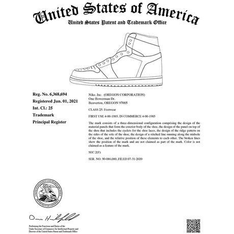 Nike dépose le brevet de sa Air Jordan 1