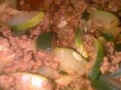 Courgettes bolognaise