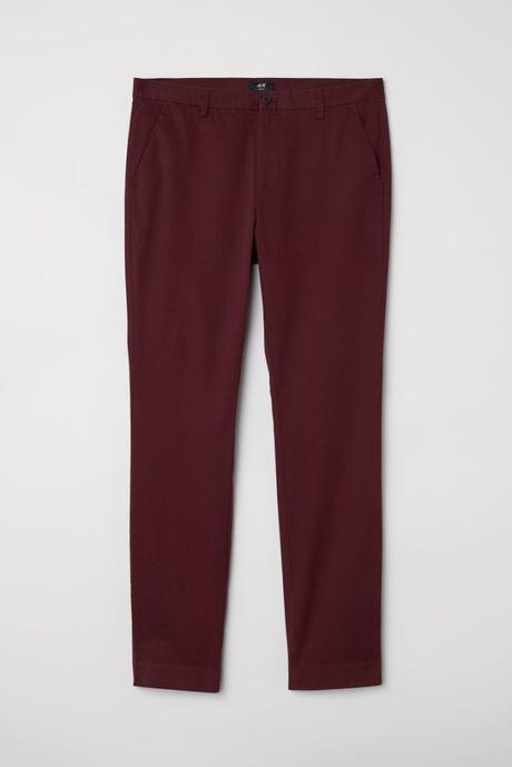 pantalon bordeaux pour homme