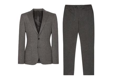 costume gris pour homme