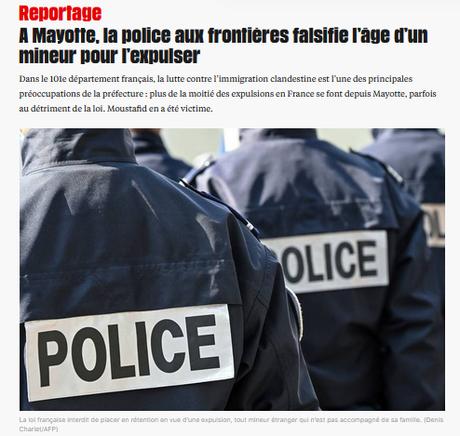 à Mayotte, les premiers délinquants sont les flics #Immigration