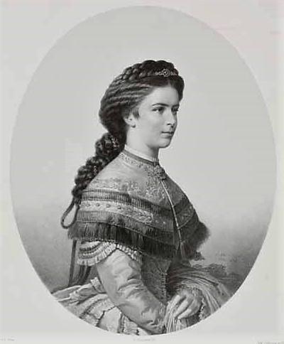 L'impératrice Elisabeth d'Autriche par Émile Desmaison