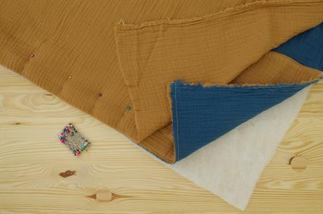 tapis d'éveil fait-main gaze de coton bio Montessori