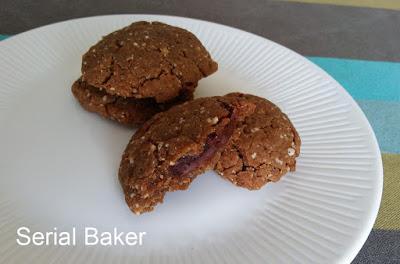 Cookies noisette fourrés au chocolat (version vegan)