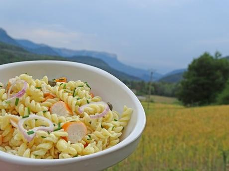 Salade de pâtes surimi