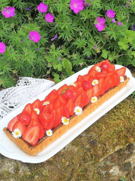 Tarte aux fraises à la crème d'amande