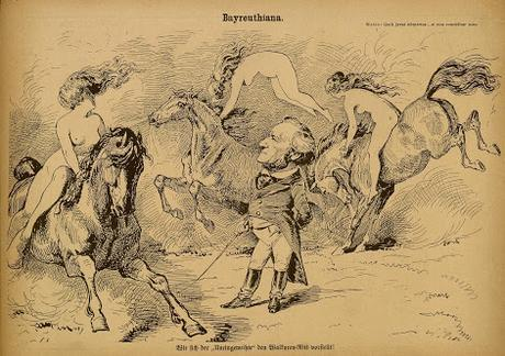Bayreuthiana — Walkyren-Ritt  / La chevauchée des Walkyries — Puck, Leipzig 1876