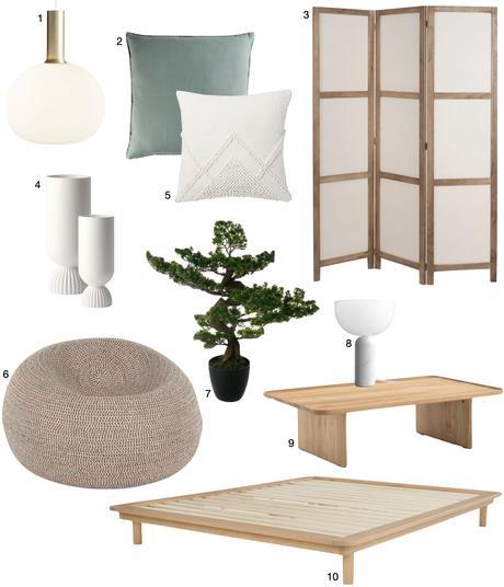 déco japonaise pouf table basse paravent bois bonsaï blog clematc