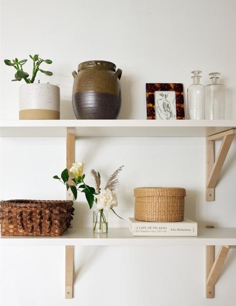 étagère murale bibelot artisanat porcelaine poterie art décoration intérieur slow life