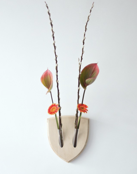 ikebana japonais mural coquelicot fleur de coton