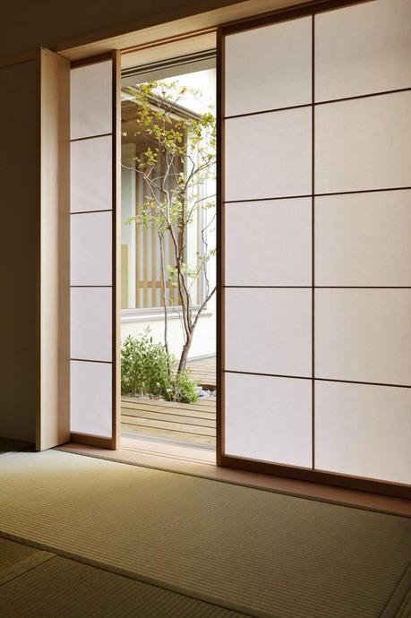cloison opaque coulissante bois ouverture déco japonaise blog clematc