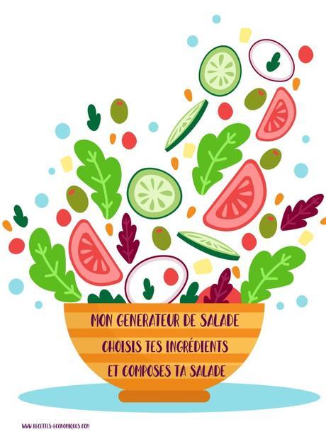 Générateur de salades composées ou complètes