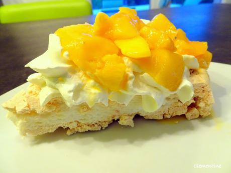 Pavlova à la mangue et/ou fruit de la passion