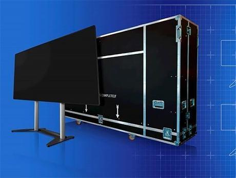 Un mur LED transportable de 130″ pour l'événementiel chez Optoma