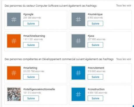 Utilisez les Hashtags LinkedIn pour être plus visible sur Linkedin !