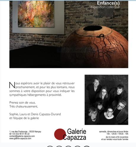 Galerie Capazza à Nancay – en Sologne.. LE SAMEDI 26 Juin 2021 —