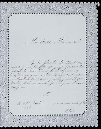 Auktionshaus Zisska und Lachner  — Aus der Kinderstube der Wittelsbacher / Une lettre de la jeune Sissi bientôt aux enchères à Munich
