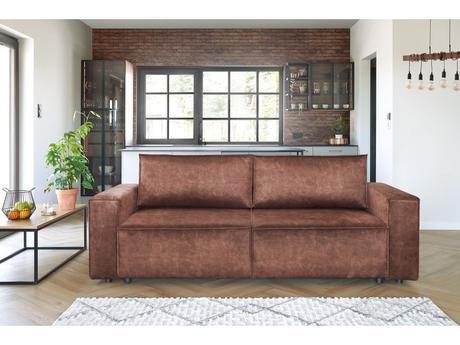 comment décorer salon style loft brique chesterfield moderne