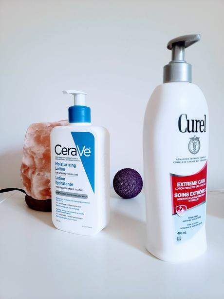 CeraVe lotion hydratante VS Curel, soins extrêmes