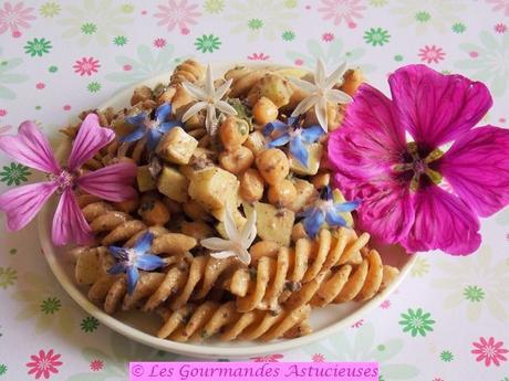 Salade de pâtes au chou-rave (Vegan)