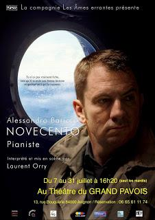 Novecento : pianiste au théâtre dans l'adaptation de Laurent Orry