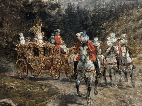 Heinrich Breling — Kutschfahrt Ludwigs II. — Balade en carrosse du roi Louis II de bavière