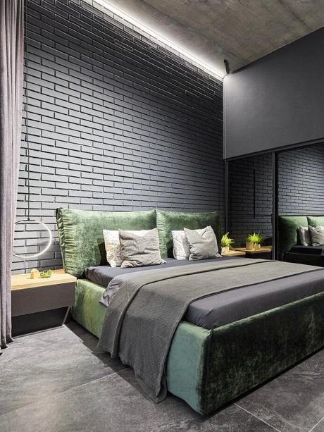 suite parentale design industrielle décoration brute - clem around the corner