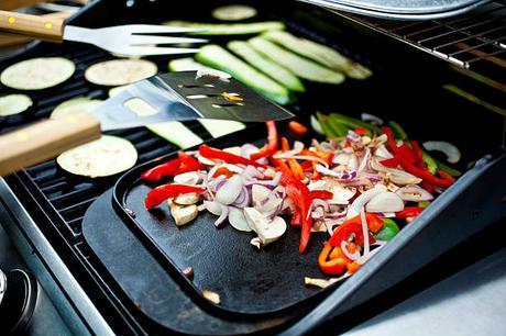 barbecue vegan légumes grillés street food
