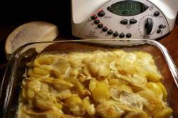 recette du jour: Gratin de pommes de terre savoyard aux lardons  au thermomix de Vorwerk