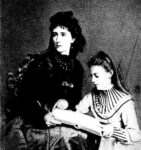 Henriette Mendel, baronne de Wallersee, et sa fille Marie, future comtesse Larisch