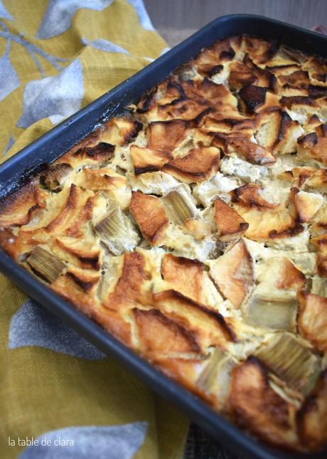 Clafoutis Pommes rhubarbe