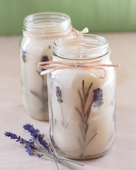 diy bougie lavande décoration florale originale do it yourself