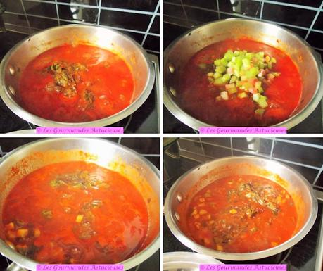 Riz à la sauce tomate à la rhubarbe (Vegan)