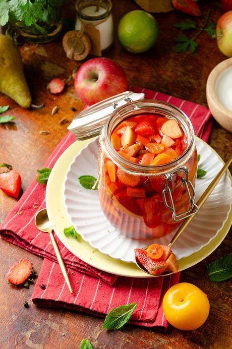 fraise vinaigrée croquante en bocal conserve été
