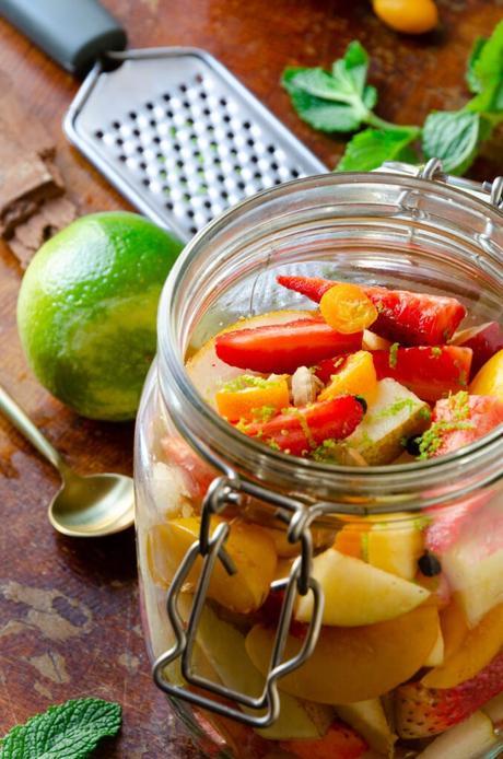 découpe fraise poire kumquats dessert fruité saison