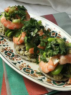 Artichaut aux fèves & aux crevettes