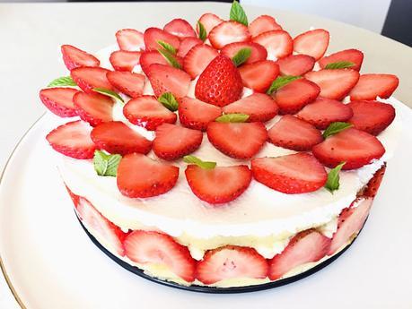 Mon fraisier facile et (presque) léger