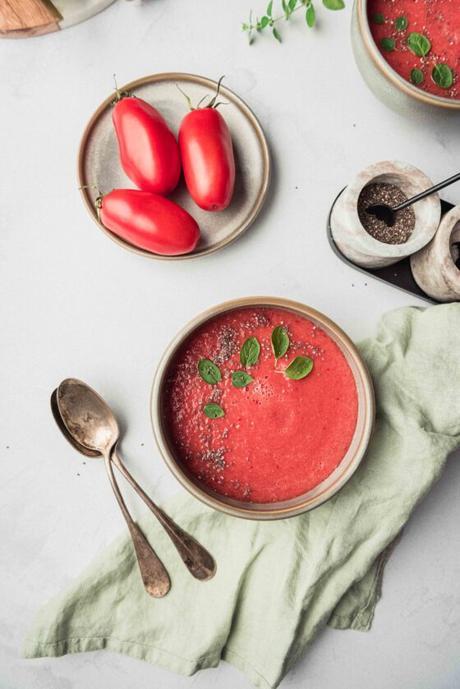 Gaspacho pastèque et tomates