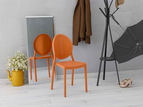 déco vitaminée chaise plastique orange design fluo
