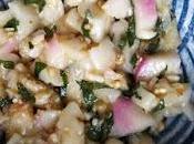 Salade d'aubergines marinées l'ail citron