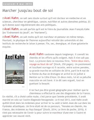 Le décès paisible d'Axel Kahn, médecin, penseur, marcheur, écrivain