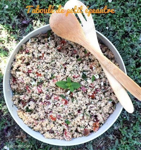Salade d'été - Taboulé de petit épeautre