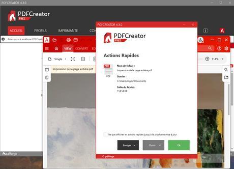 PDFCreator - si vous ne devez choisir qu'une imprimante PDF