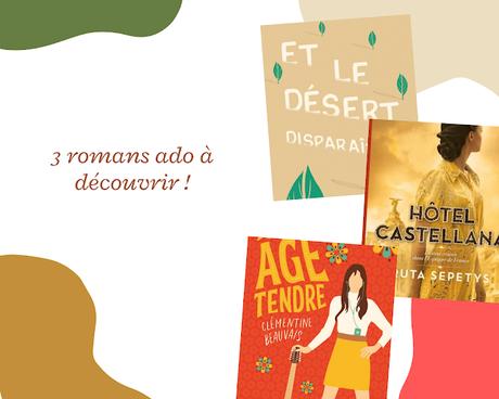 3 romans young-adult à lire