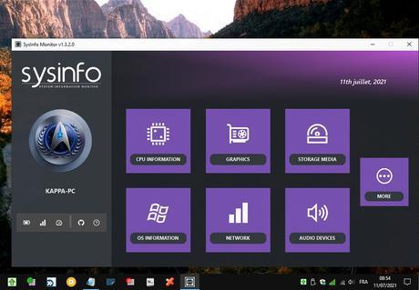 SYSInfo Monitor - moniteur d'informations système du PC