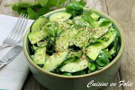 Salade de mâche et de concombre de Yotam Ottolenghi