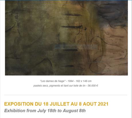 Bogéna Galerie-  exposition  Monique FRYDMAN – 18 Juillet au 6 Août 2021- Saint Paul de Vence